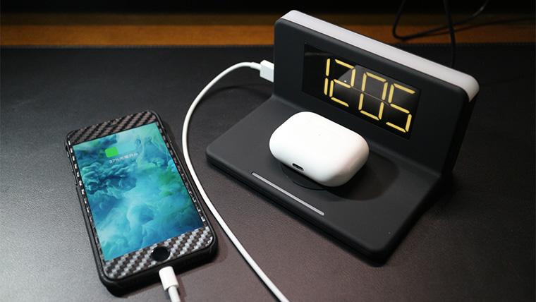 Alarm clock Wireless chargerのレビュー