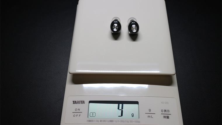 TE-D01gvのイヤホンの重量