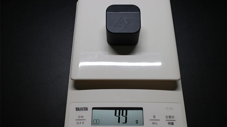 TE-D01gvの充電ケースの重量